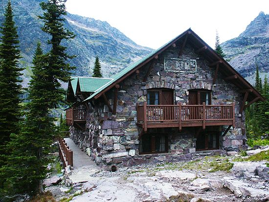 Sperry Chalet. GNP. Spent the night here in 1988. Hiked up from Lake McDonald. JKR. Our room was upper left.