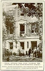 The house of Attorney General Palmer after being bombed by anarchists in 1919