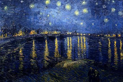 Starry Night Over the Rhone フィンセント・ファン・ゴッホ[オランダ 1853-1890] ローヌ川の星月夜 1888年9月、アルル 油彩、キャンバス、72.5 × 92 cm。オルセー美術館