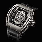 www.watchtime.com   watch to watch    Richard Mille Tourbillon RM 052 Skull    RMO52 SKULL 1501
