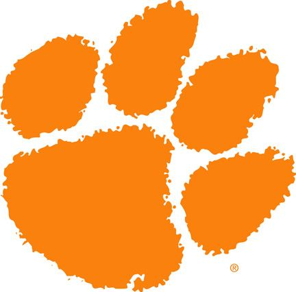 tiger paw stencil | So in honor of the Clemson Tiger, this recipe is for Tiger Paw Sliders ...