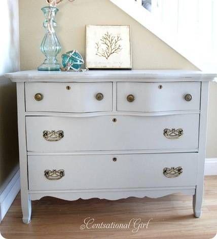 DIY dresser gray blue