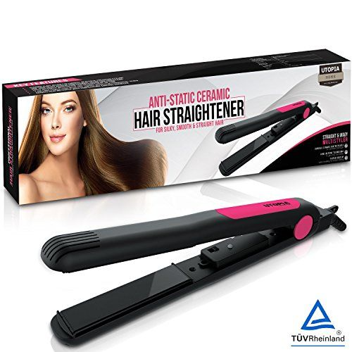 Professional Salon Quality Hair Straightener - Adjustable Temperature High Heat 450 Degree Fahrenheit - LED Display - 1 Inch Ceramic Tourmaline - Perfect for Men and Women for Styling - by Utopia Home. For product & price info go to:  https://beautyworld.today/products/professional-salon-quality-hair-straightener-adjustable-temperature-high-heat-450-degree-fahrenheit-led-display-1-inch-ceramic-tourmaline-perfect-for-men-and-women-for-styling-by-utopia-home/