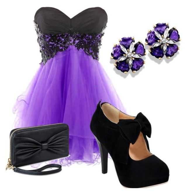 purple shick outfit by stelamahomie on Polyvore featuring women's clothing, women's fashion, women, female, woman, misses and juniors