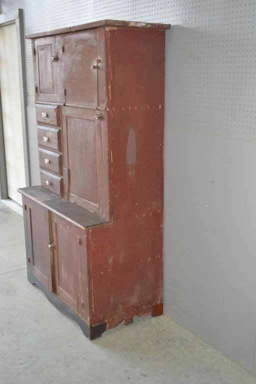 Buy online, view images and see past prices for Primitive Farmhouse Cupboard 71