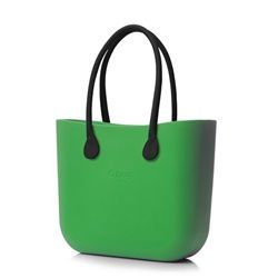O bag in Mint with Black Faux Leather Handle. £60 #Bags #Italian