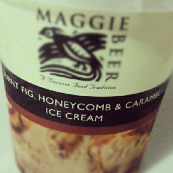 Maggie Beer icecream - Burnt Fig, Honeycomb and Caramel. Oh la la!
