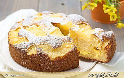 Torta ananas e crema soffice ricetta