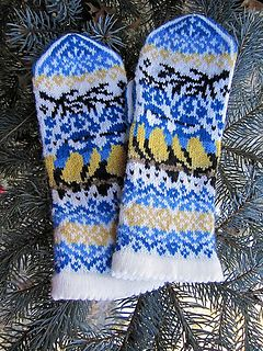 Titbird mittens by Natalia Moreva [knit mittens colorwork]