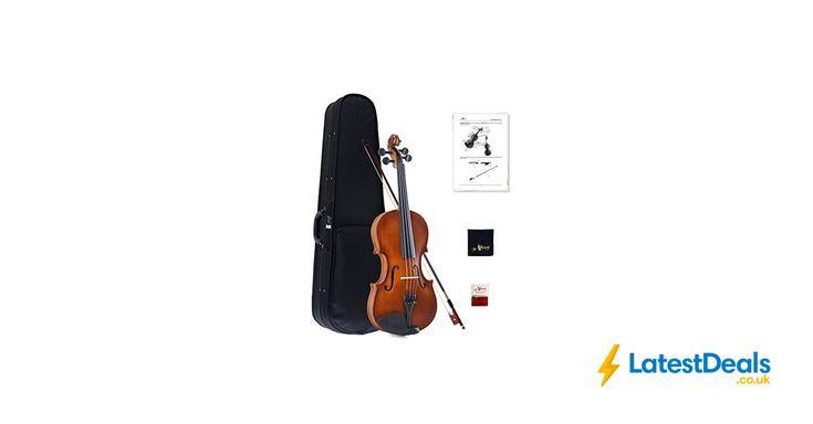 Aileen Violin 4/4 Full Size Hard Case, Bow, Rosin, Bridge, and Polishing Cloth, £54.99 at Amazon
