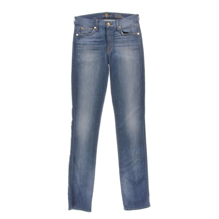 7 For All Mankind Womens Kimmie Form Fitted Straight Leg Jeans