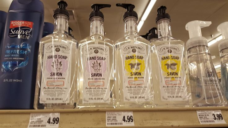 J.R. WATKINS cleaning products available at Save Mart Supermarkets in California