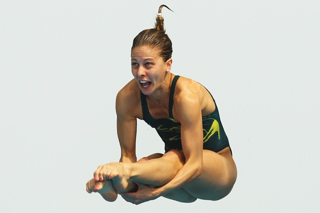 Funny Diver Face Stop Action 2012 Olympics Diving