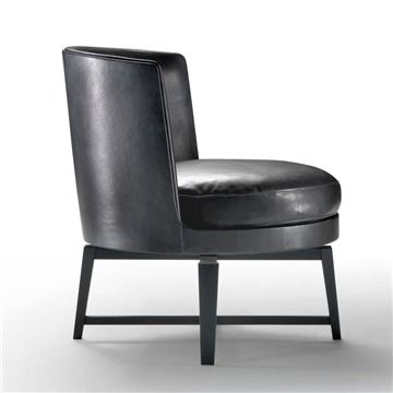 Flexform Feel Good .2 Armchair - Style # 14W80, Modern Armchair - Contemporary Armchair - Leather Armchair - Swivel Armchair | SwitchModern.com