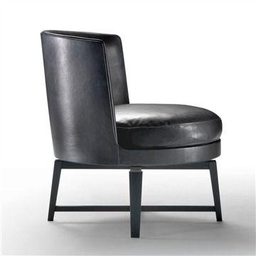 Flexform Feel Good .2 Armchair - Style # 14W80, Modern Armchair - Contemporary Armchair - Leather Armchair - Swivel Armchair | SwitchModern.com