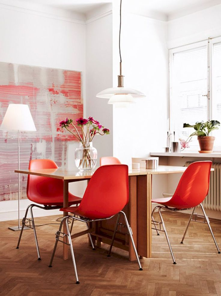 53 Modern Red Accent Chair Dining Ideas. Colourful Living RoomLiving ... Part 60