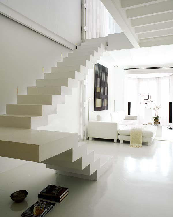 M s de 25 ideas incre bles sobre escaleras voladas en - Escaleras de ladrillo ...