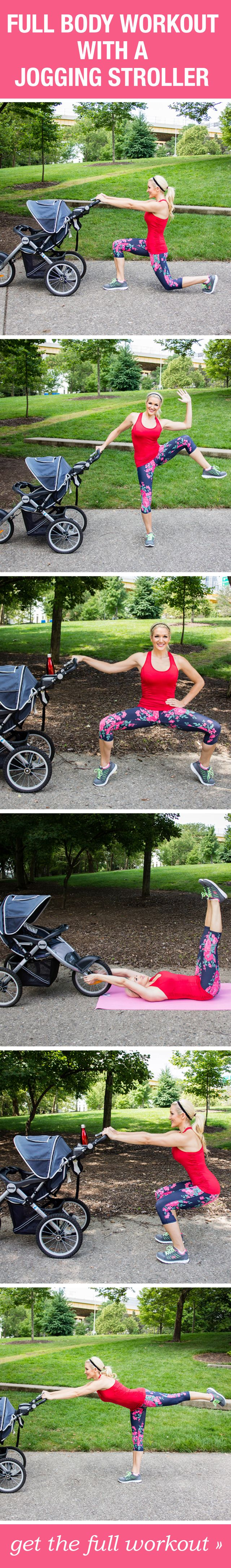 Grab your stroller and try this full body fitness workout! You can aslo check www.postchildbirthweightloss.com