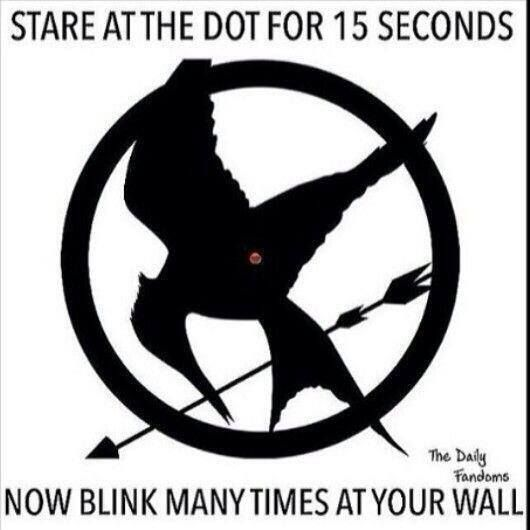 The Hunger Games - IT WORKS! When you blink (while the eyes are still closed) you'll see the shape.