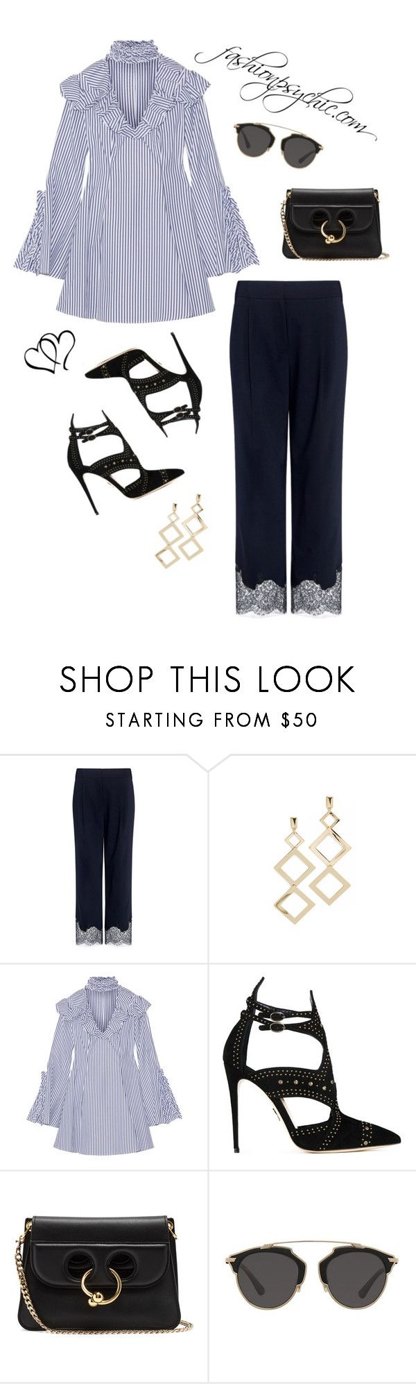 """."" by fashionpsychic on Polyvore featuring TIBI, Adia Kibur, Caroline Constas, Paul Andrew, J.W. Anderson and Christian Dior"