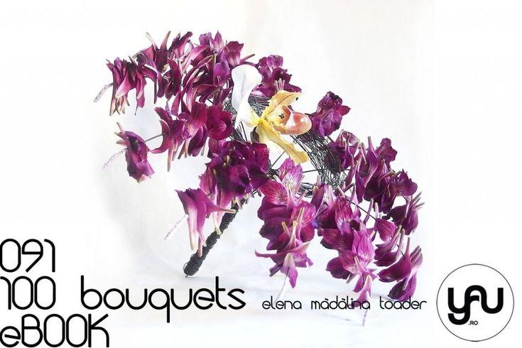 BUCHET cu petale MOV si orhidee #100bouquets #ebook #yauconcept #elenamadalinatoader