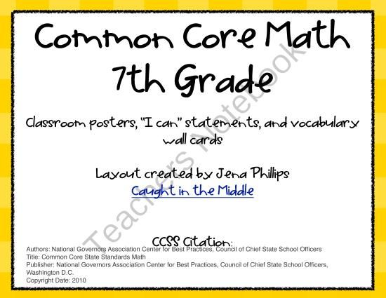 Common Core Math Activities For Seventh Grade  math notebooks and on pinterestcommon core