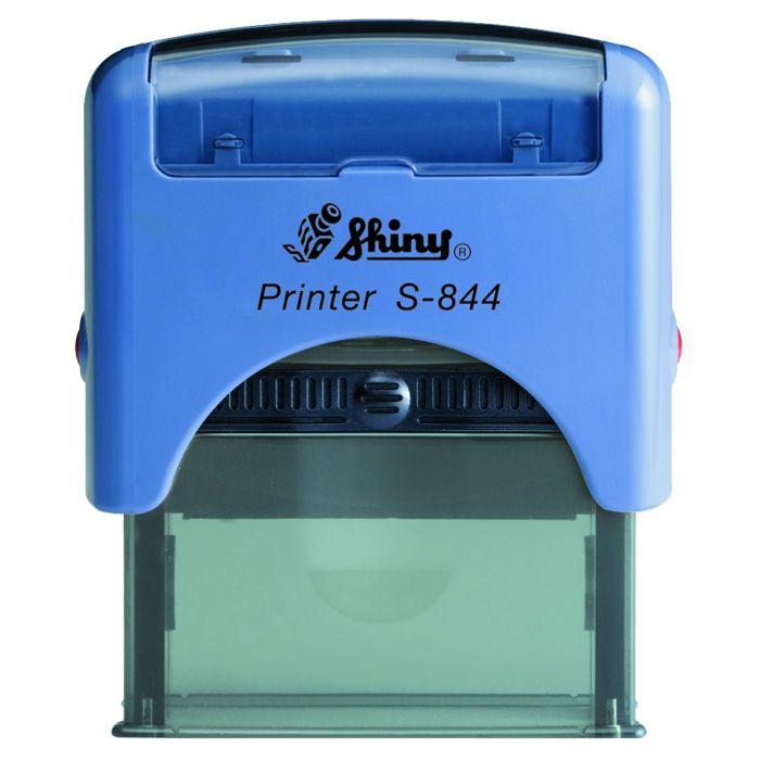 Sello Shiny S-844. El modelo más utilizado para los datos de empresa, como nombre, CIF, dirección, teléfono