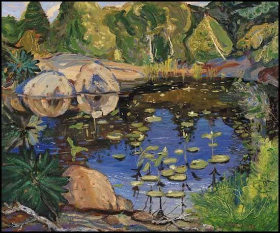 Dark pool, Canadian jungle, Georgian Bay by Arthur Lismer