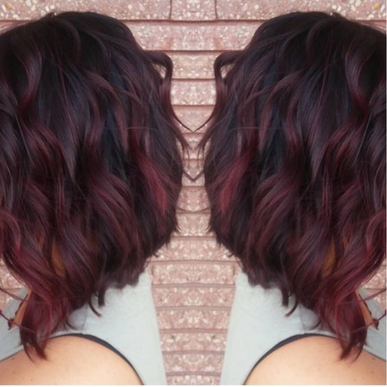 My new red violet ombré and cut :