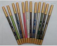 12pcs de la manera caliente Multi -Color Eye Liner Lápiz Delineador de ojos cosméticos a prueba de agua de la pluma de ojos Shaows Lápiz para Lady compone las herramientas Set