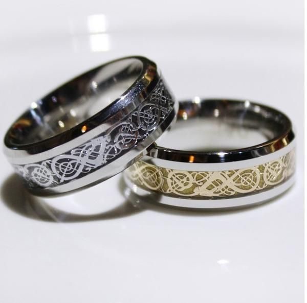 Promise Rings For Him - Vintage Chinese Dragon Men's Promise Rings