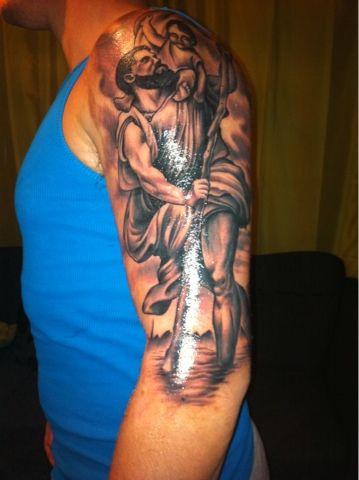 St Christopher Tattoo   Saint Christopher Tattoo
