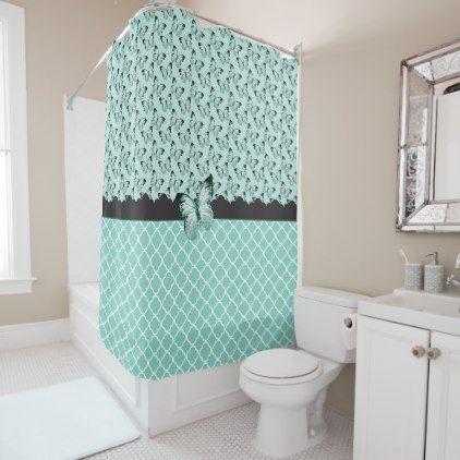 #Butterflies Shower Curtain - #Bathroom #Accessories #home #living
