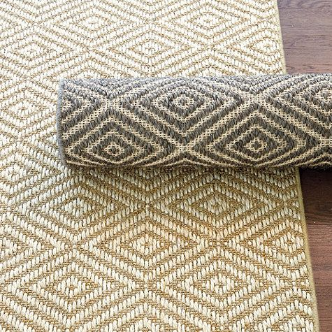 Diamond Sisal Rug. Kitchen Runner ...