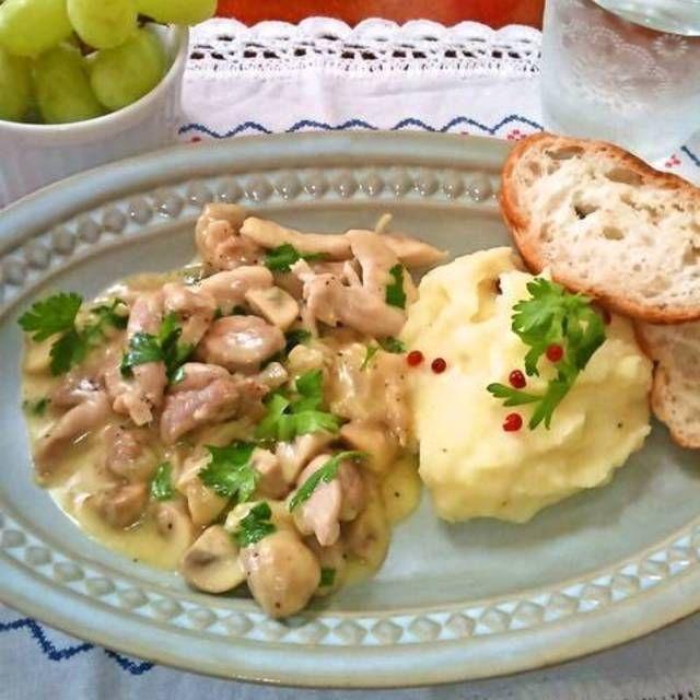 """チキンストロガノフ """"Chicken Stroganoff"""" ~ ロシア料理"""