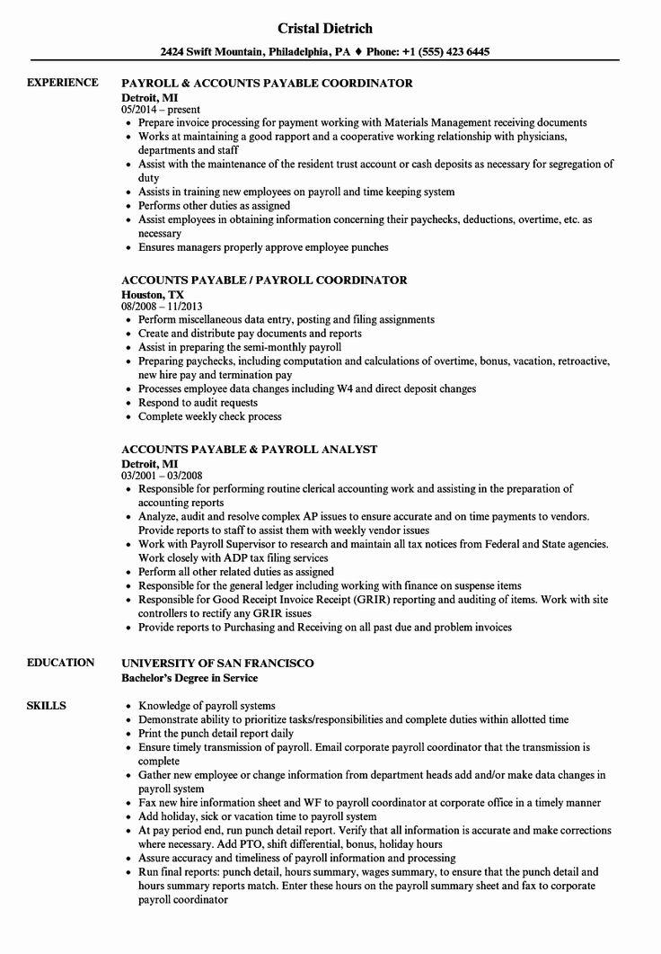 Account Payable Job Description Resume Luxury Accounts