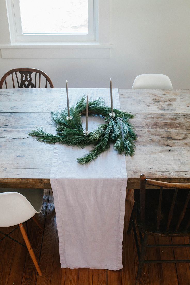 Christmas Table Wreath DIY and Preparing Your Home for Hosting on A Daily Something