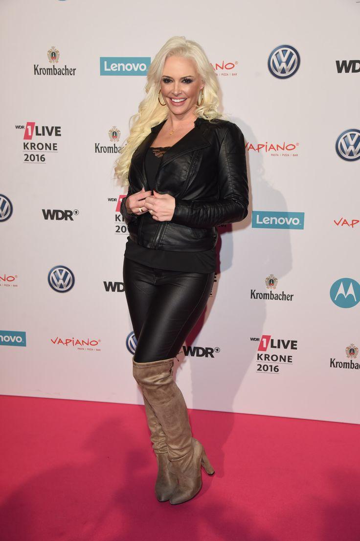 daniela katzenberger attends live krone award jahrhunderhalle celebs in super sexy leather. Black Bedroom Furniture Sets. Home Design Ideas