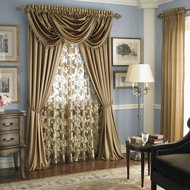 This Is The Idea To Have A Sheer Then Drapes That Tie Back With An