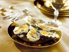 Gegrilde oesters met sabayon