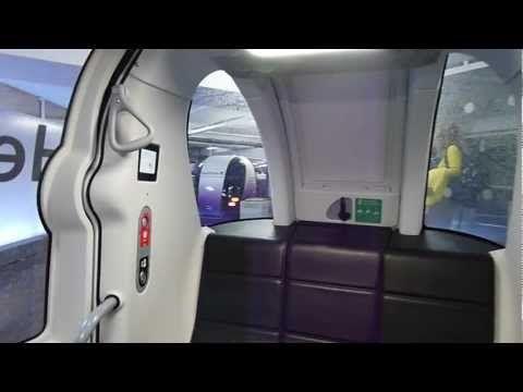 So bitchin!  Heathrow POD cars - full ride from London Heathrow Airport's Terminal 5 to Business Car Park B