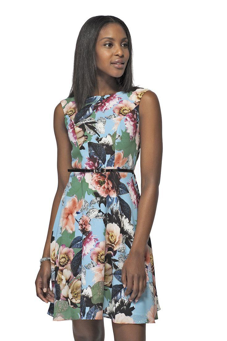 Robe � imprim� floral avec ceinture