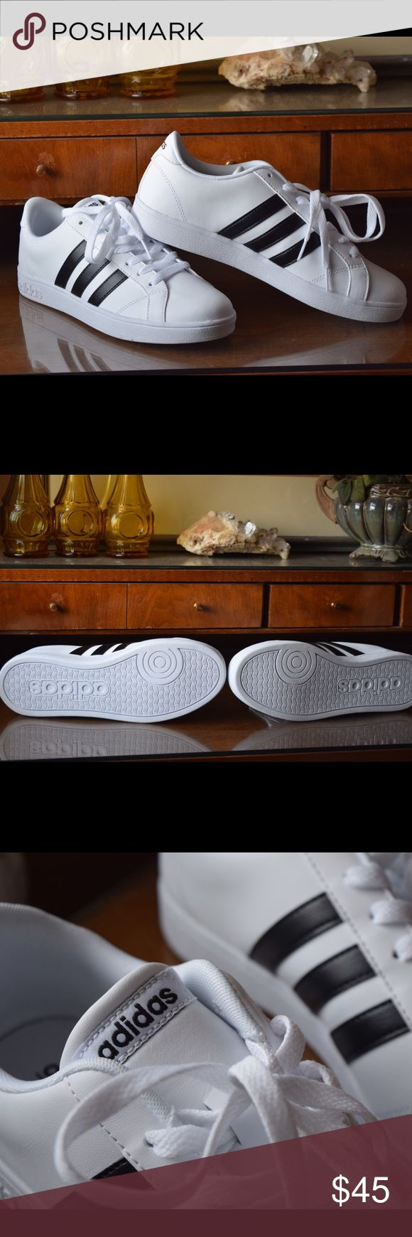 Adidas Baseline Shoes - NEW Brand New. White Women's size 8.5. Classic Baseline Shoes. No damage or discoloration. Adidas Shoes Sneakers