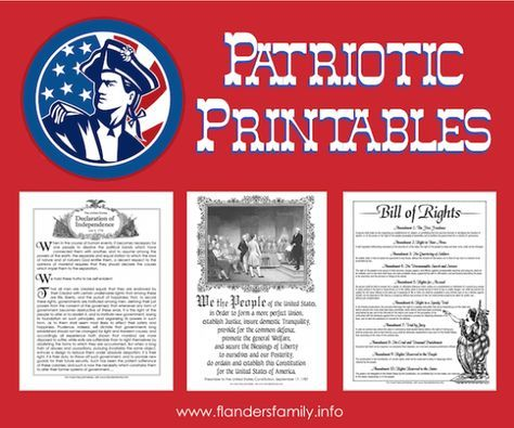 Free Printables: Intro to Declaration of Independence, Preamble to Constitution,  Bill of Rights