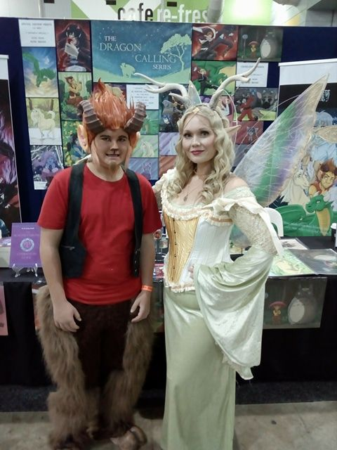 #DragonCalling character cosplays. Norf the satyr and Megandel the faerie queen. #cosplay 2017 Brisbane Supanova Convention