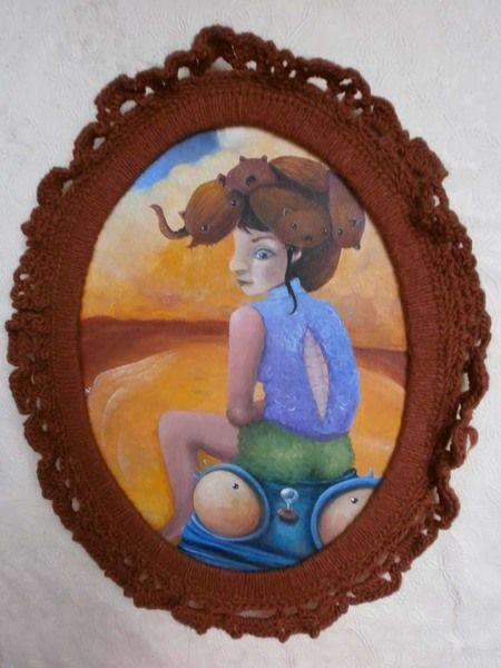 Ölbild: Alice wartet von Nordschattengewaechse auf DaWanda.com