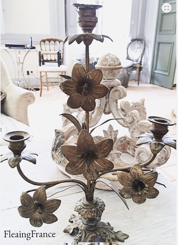 FleaingFrance....Antique French candelabra now in the online shop.