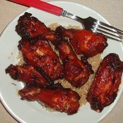 Sticky Garlic Chicken Wings @ allrecipes.asia