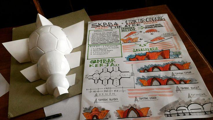 Maket Cangkang & Paper Struktur, Konstruksi & Bahan Bangunan 4