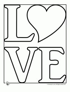 love coloring pages - Coloring Stencils